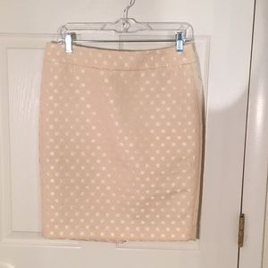 Cream polka dot skirt